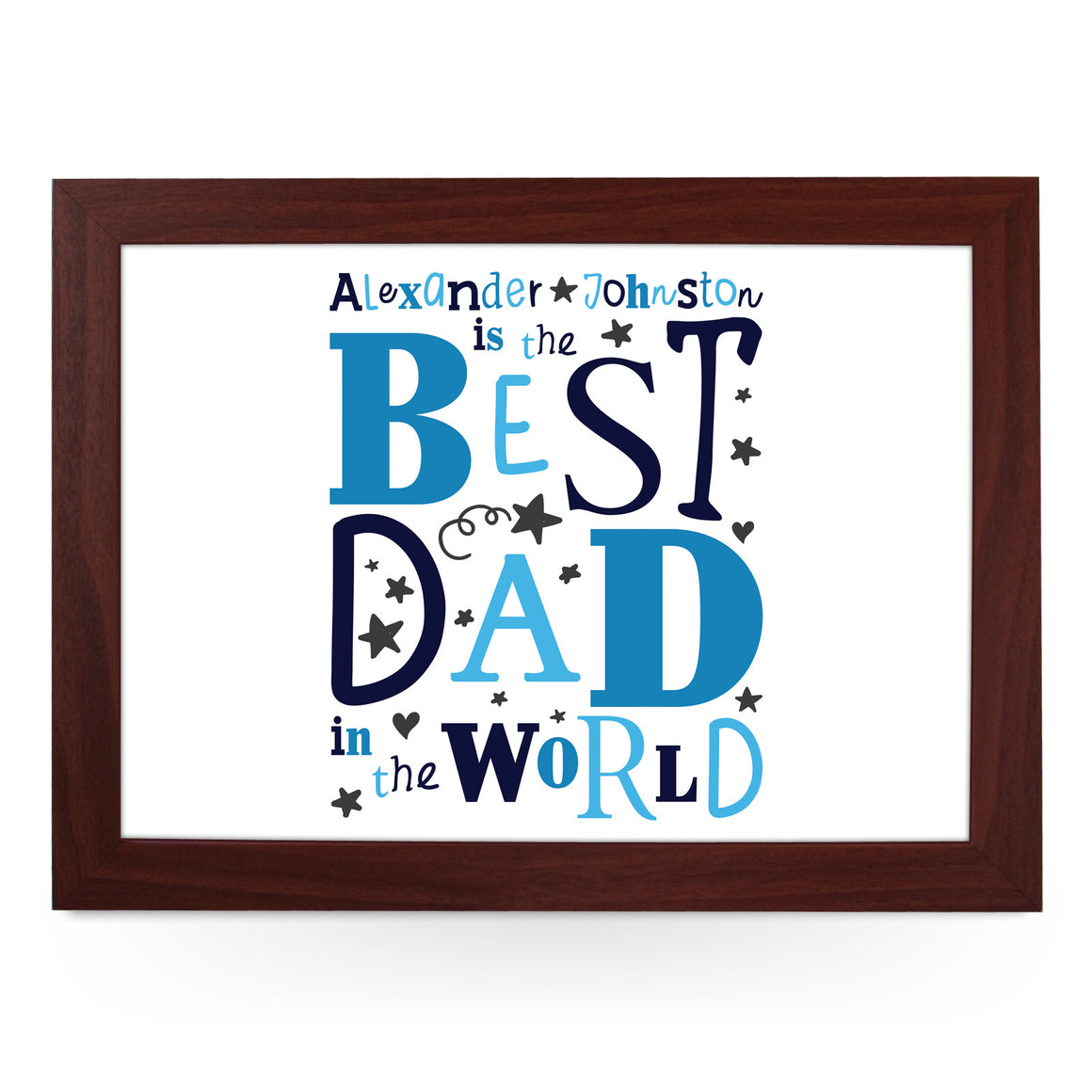 Personalised Best Dad In The World Lap Tray - L0483