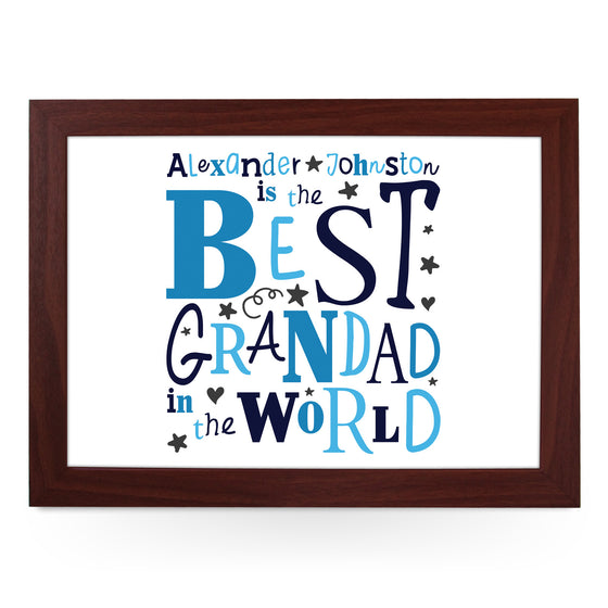 Personalised Best Grandad In The World Lap Tray - L0488