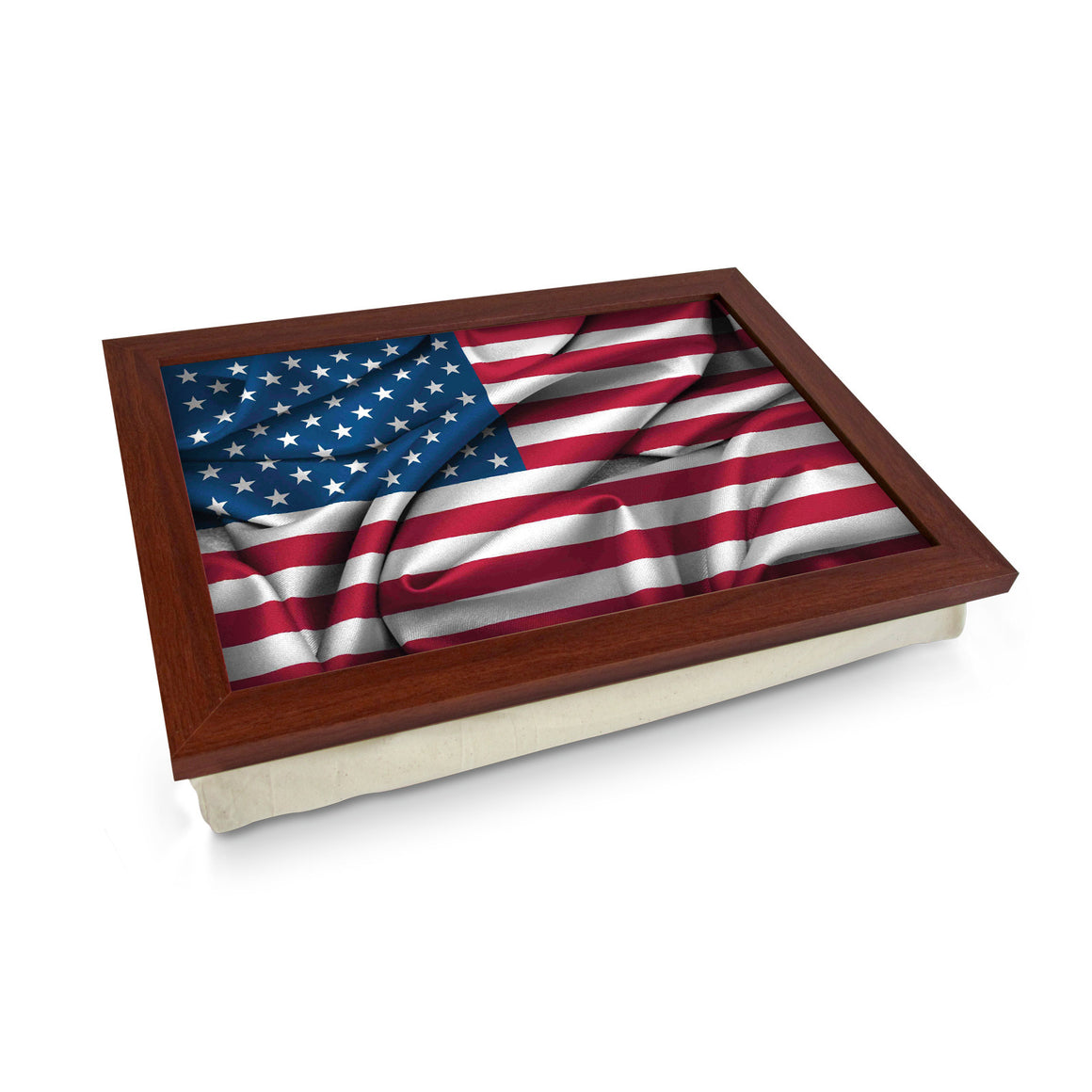 USA Flag Material Lap Tray - L0499