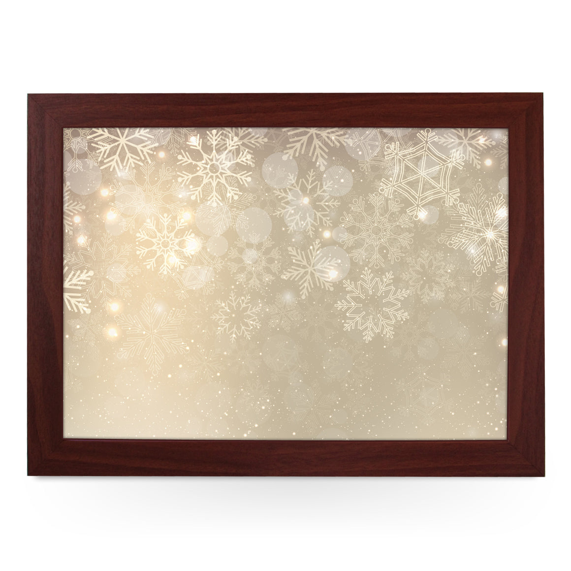 Golden Sparkly Snowflakes Lap Tray - L0568