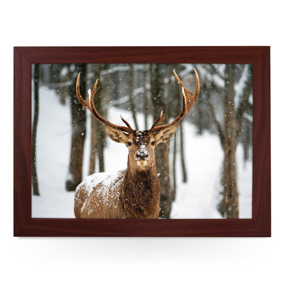 Reindeer In The Snow Lap Tray - L0572