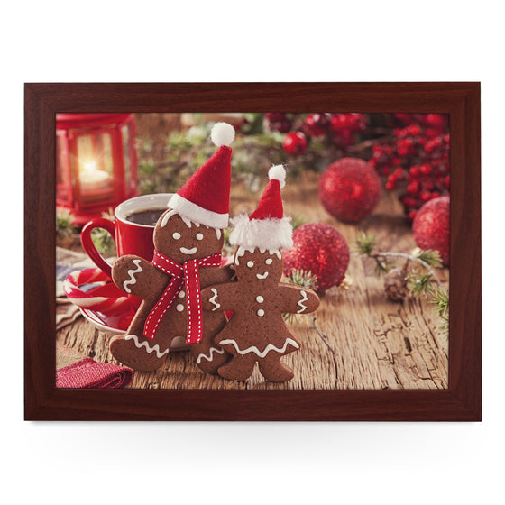 Mr & Mrs Christmas Gingerbread Lap Tray - L0573