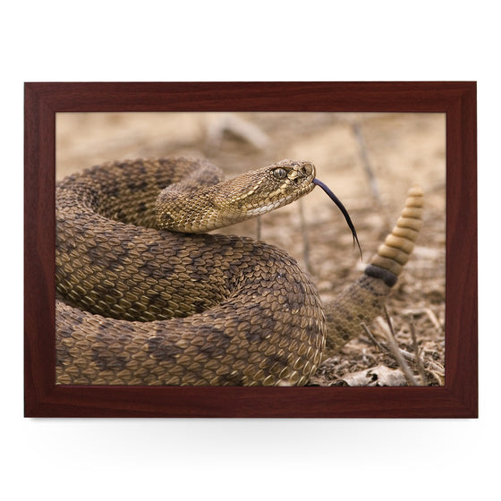 Coiled Rattlesnake Lap Tray - L0721