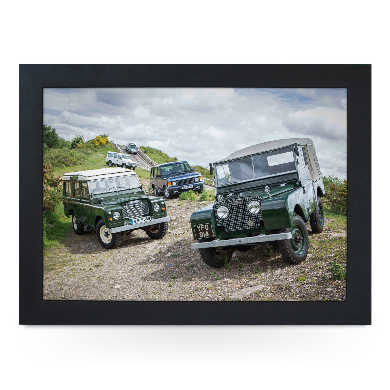 Land Rover Models Lap Tray L0726 Cushioned Lap Trays by Yoosh