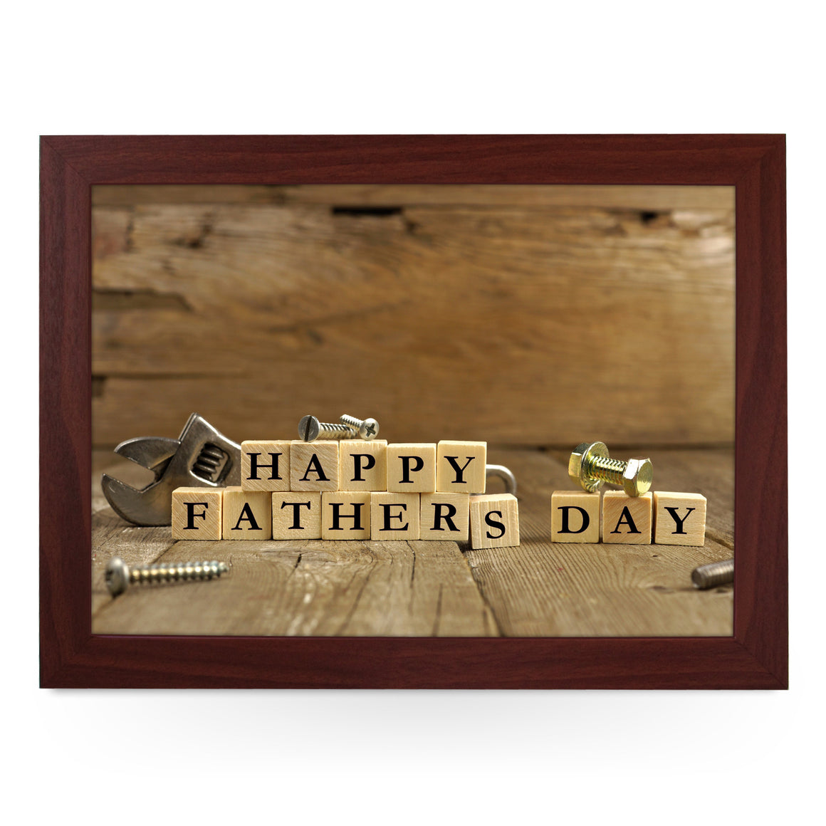Happy Father's Day Wood Blocks Lap Tray - L0738