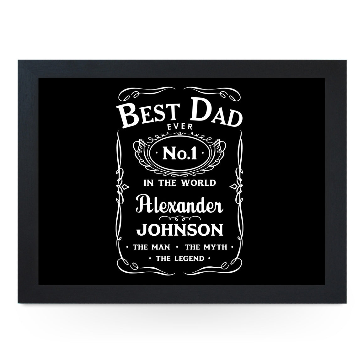 Personalised No.1 Best Dad Lap Tray - L0745