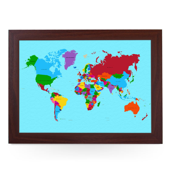 Traditional World Map Lap Tray - L0780