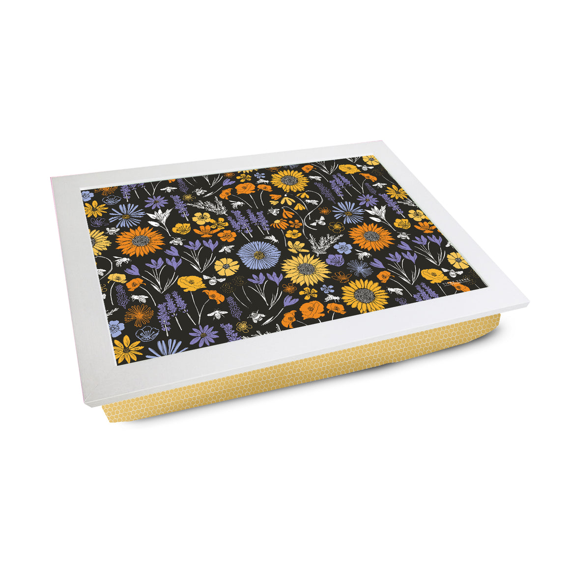 Bee and Sun Flower Lap Tray by Vicky Yorke Designs