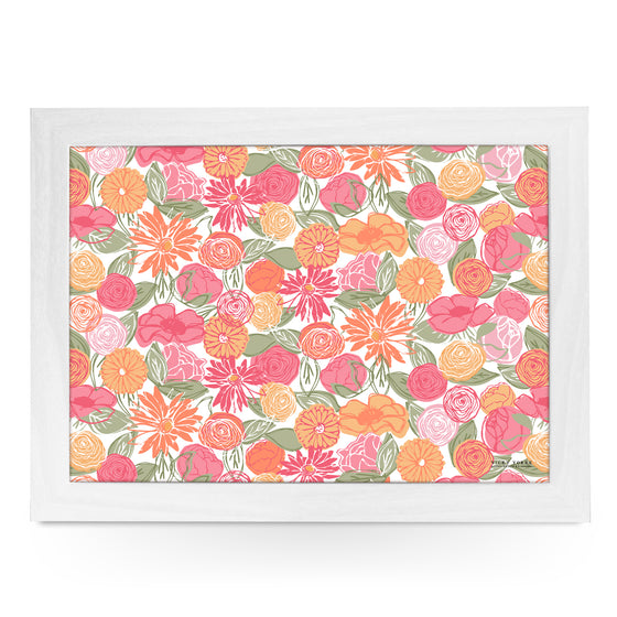 Home Farm Colourful Flowers Lap Tray by Vicky Yorke Designs