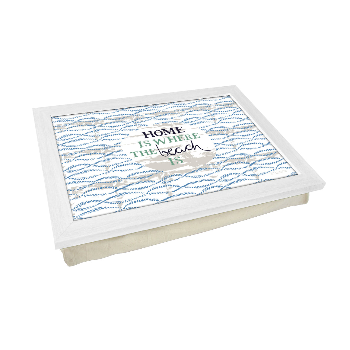Home Is Where The Beach Is Lap Tray by Vicky Yorke Designs