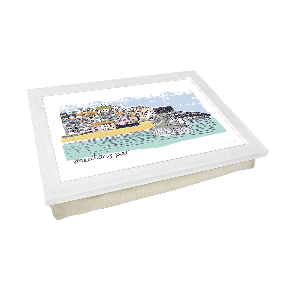 St Ives Smeaton's Pier Lap Tray by Vicky Yorke Designs
