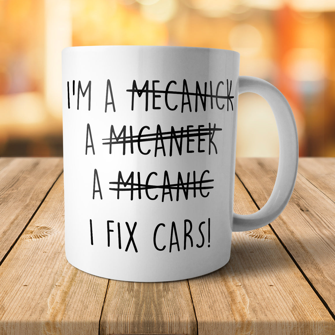 Misspelled Mechanic Mug - M002