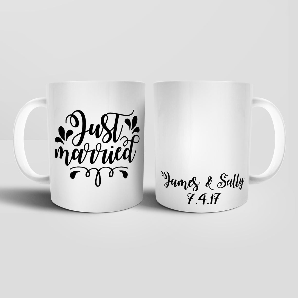 Personalised Just Married Mug - M034