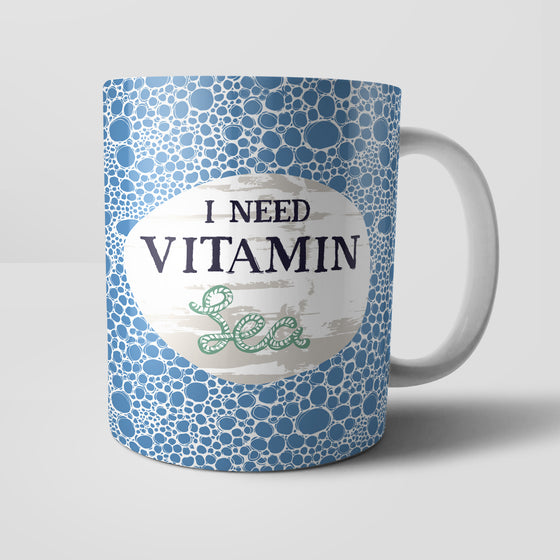 I Need Vitamin Sea Mug by Vicky Yorke Designs