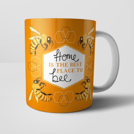 Home Is The Best Place To Bee by Vicky Yorke Designs Mug