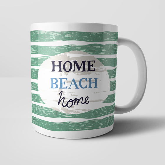 Home Beach Home Mug by Vicky Yorke Designs