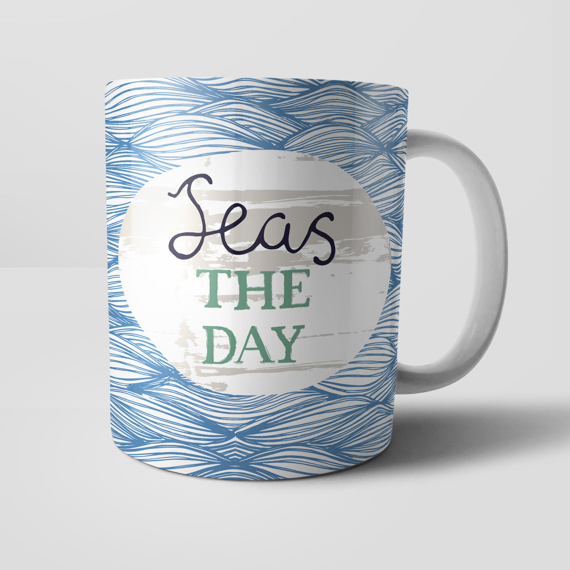 Seas The Day Mug by Vicky Yorke Designs