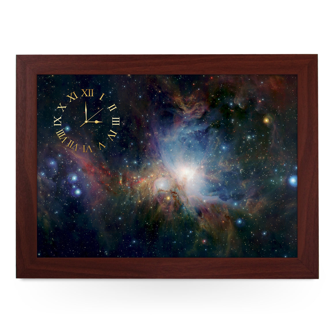 Wooden Picture Frame Clock. CL130 Orion Nebula