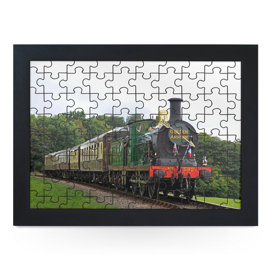 Golden Arrow Train Jigsaw Puzzle with Frame (180pcs)