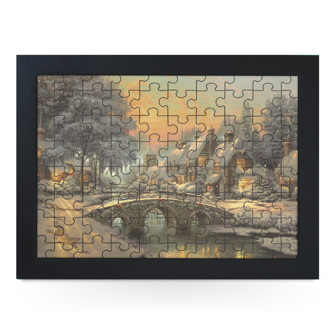 Christmas Painting Jigsaw Puzzle with Frame (180pcs)