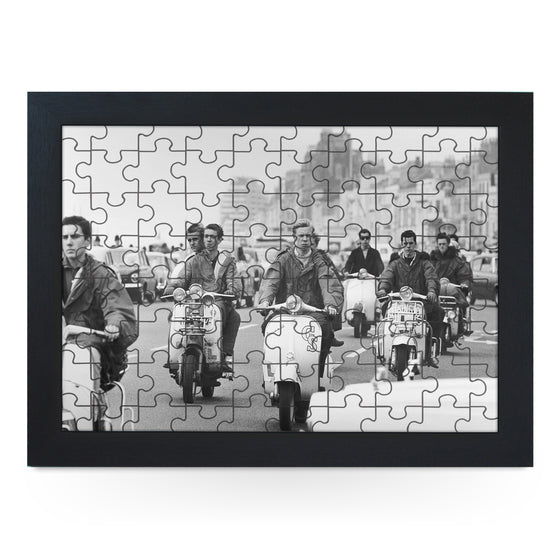 Mods Riding Scooters Jigsaw Puzzle with Frame (180pcs)