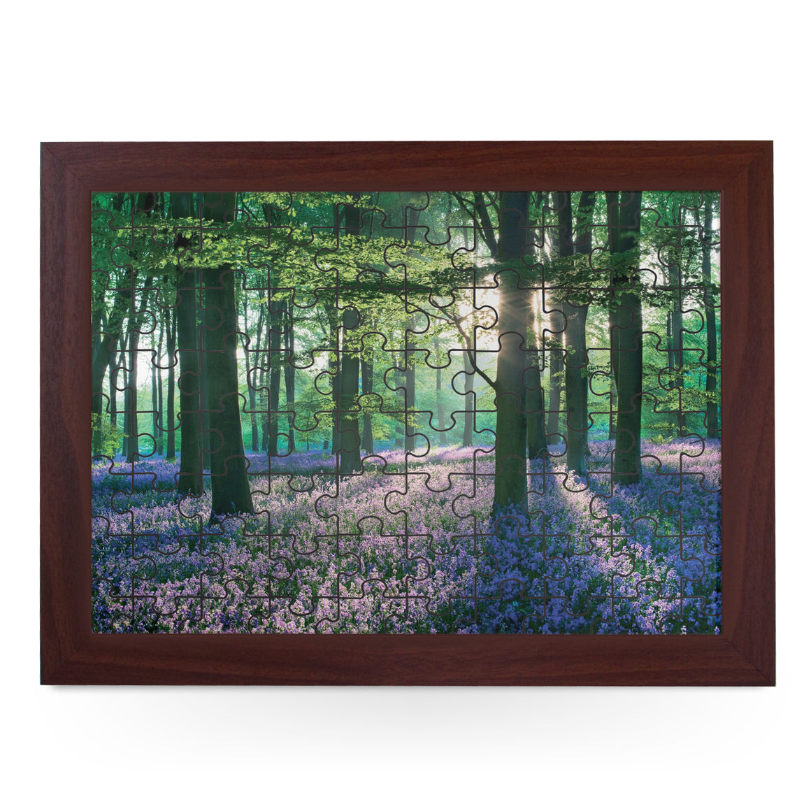 Violet Field In Woods Jigsaw Puzzle with Frame (180pcs)