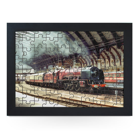 York Station Train Jigsaw Puzzle with Frame (180pcs)