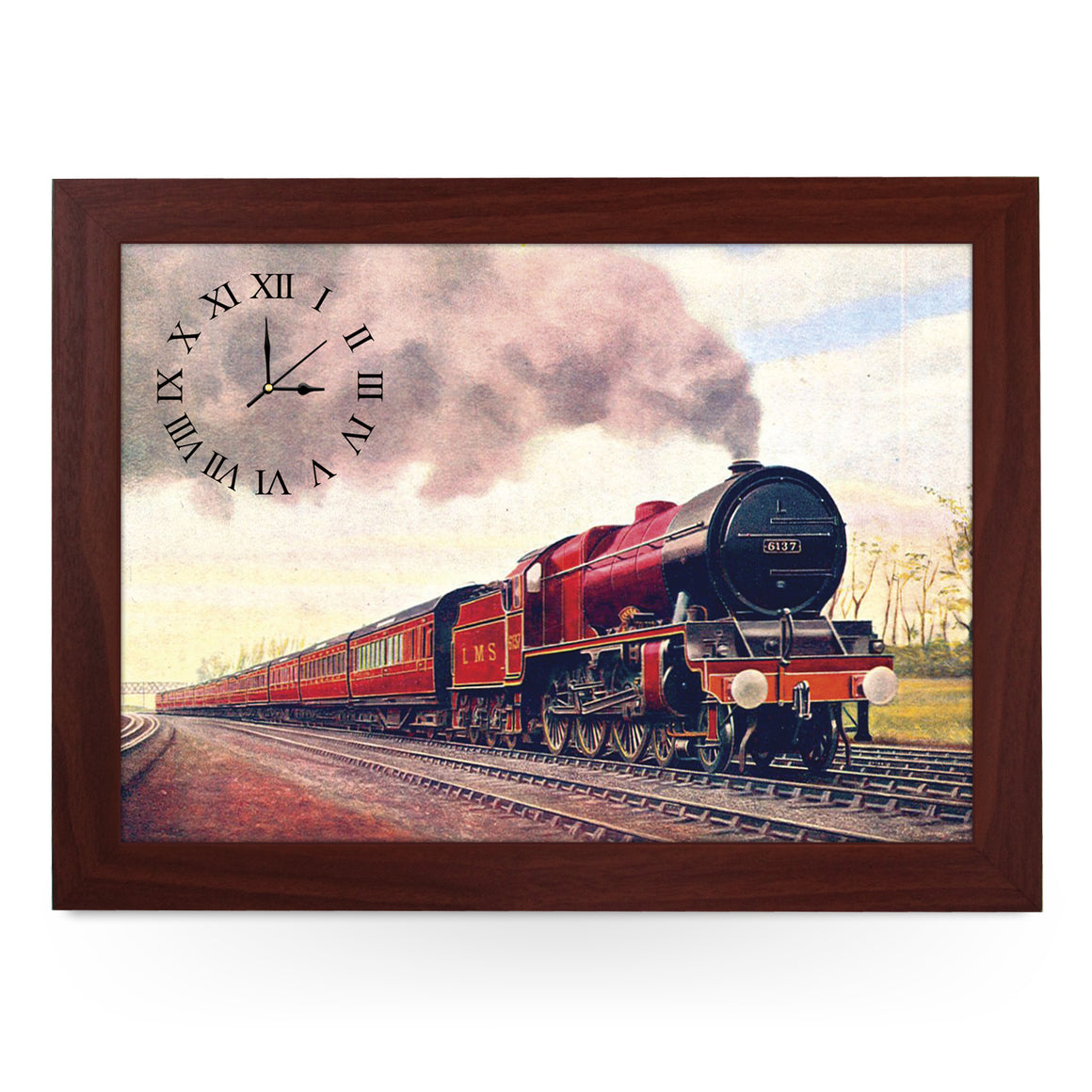 Wooden Picture Frame Clock. CL118 Royal Scotsman 1928 Train