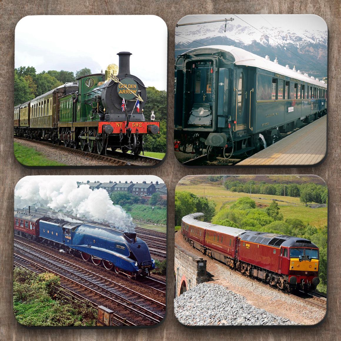Trains x 4 Coasters C0011