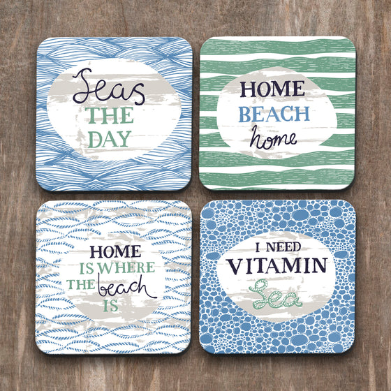 Vitamin Sea Coasters Set of 4 by Vicky Yorke Design