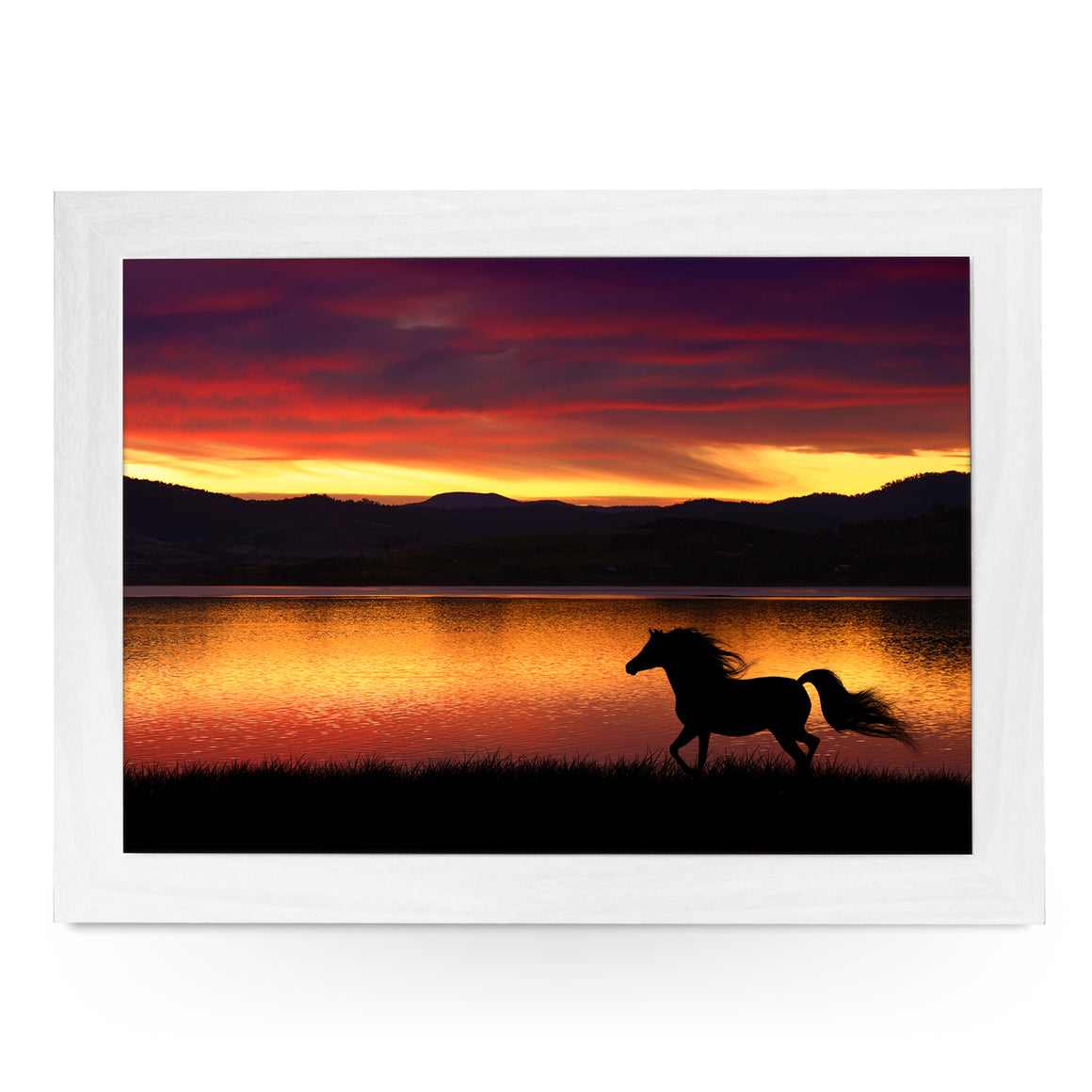 Running Horse at Sunset Lap Tray - L0117