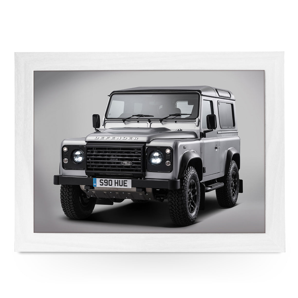 Land Rover Defender Silver Lap Tray - L0576