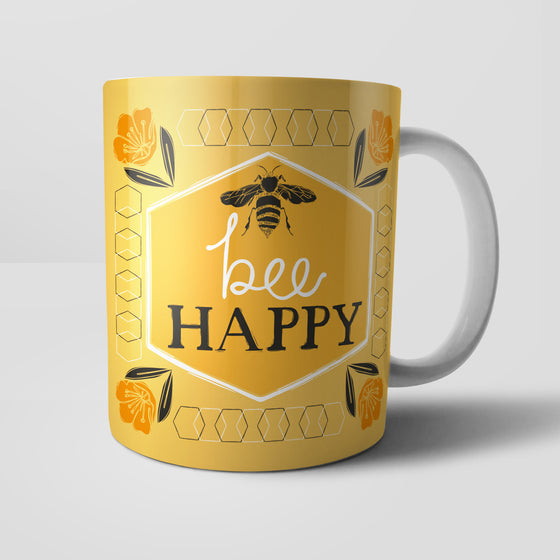 Bee Happy by Vicky Yorke Designs Mug