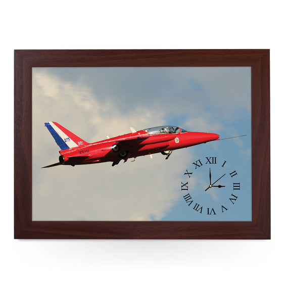 Wooden Picture Frame Clock. CL AD14868 Red Arrow Gnat.