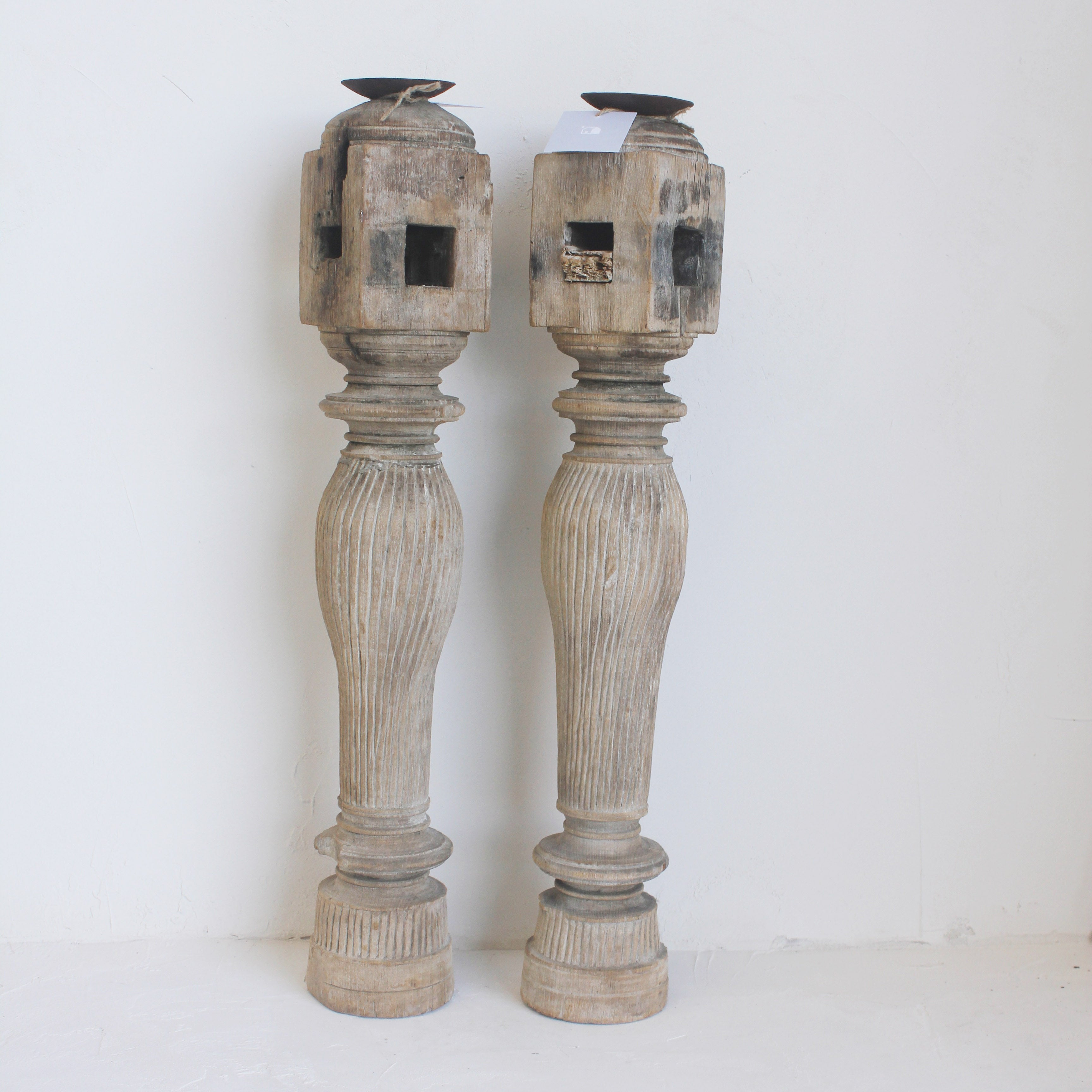 XL Carved Candle Sticks