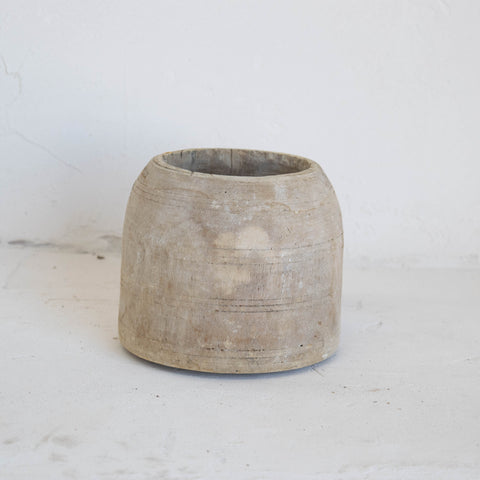 Carved Wooden Pot 2