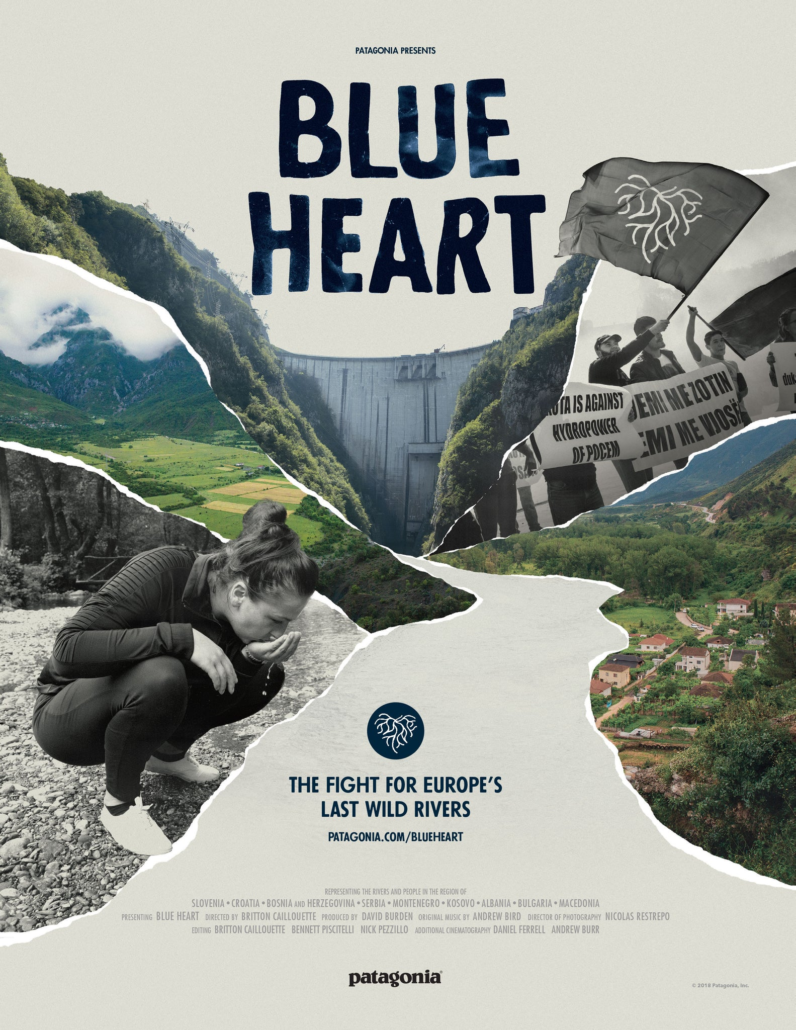 BLUE HEART PATAGONIA POSTER