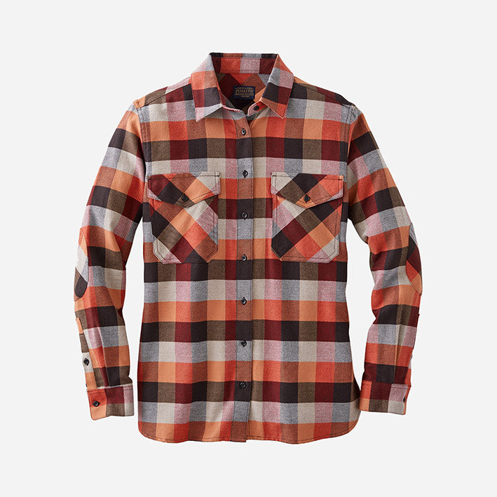 PENDLETON DOUBLE-BRUSHED FLANNEL ELBOW PATCH SHIRT – DAME