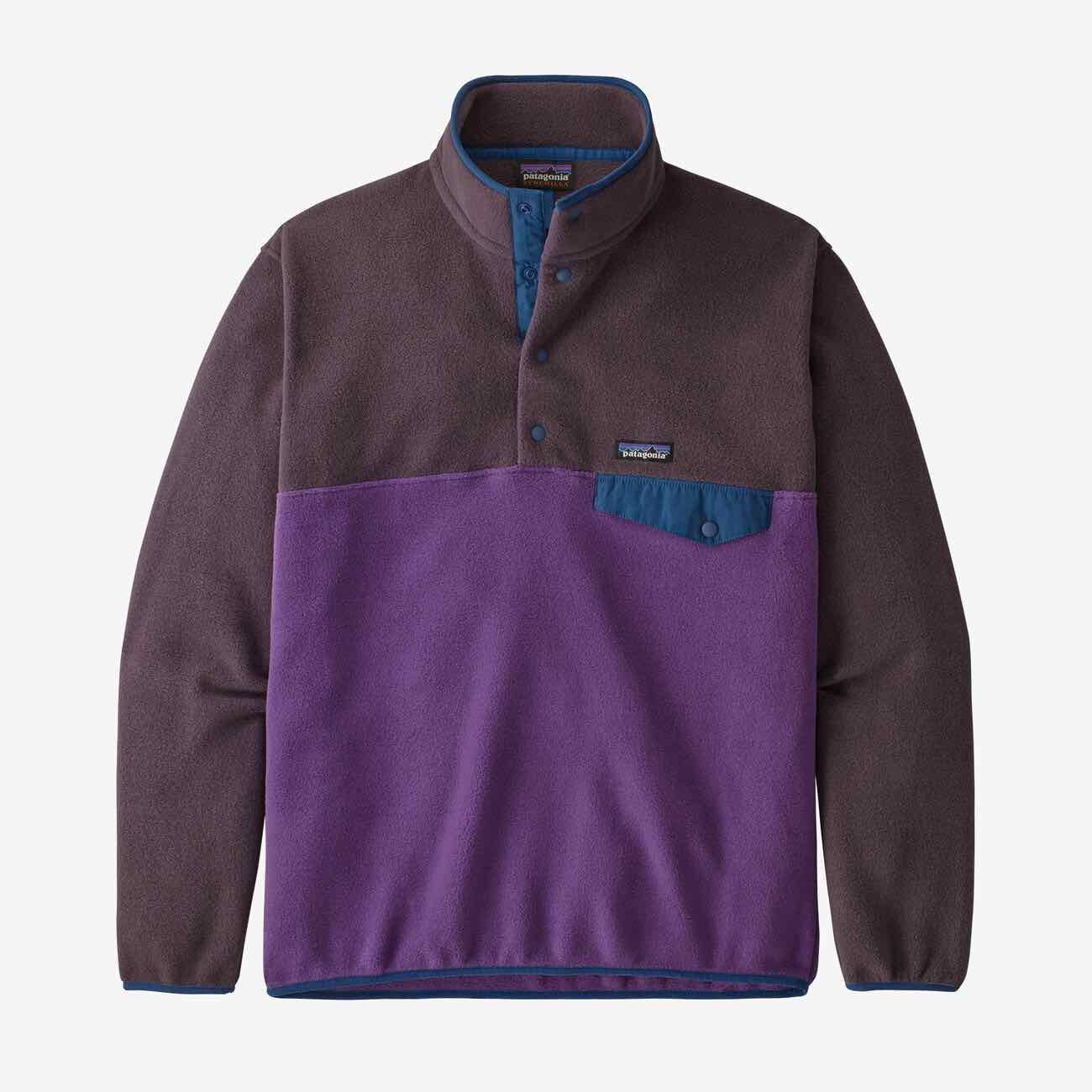 PATAGONIA LW SYNCH SNAP PULLOVER FLEECE - HERRE - PURPLE