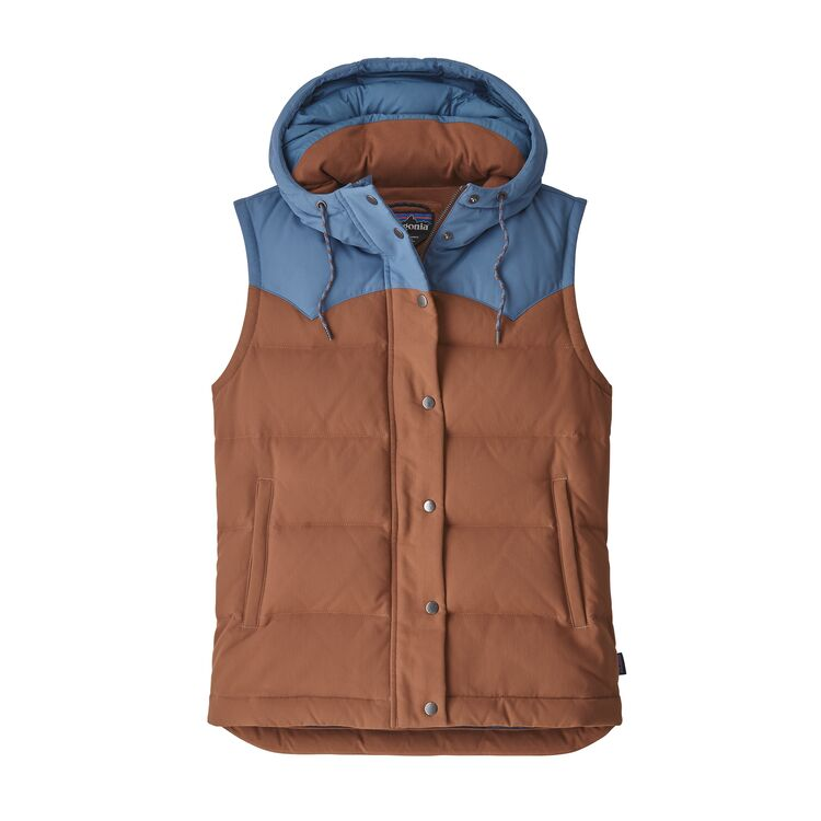 PATAGONIA BIVY HOODED VEST DAME - SISU BROWN
