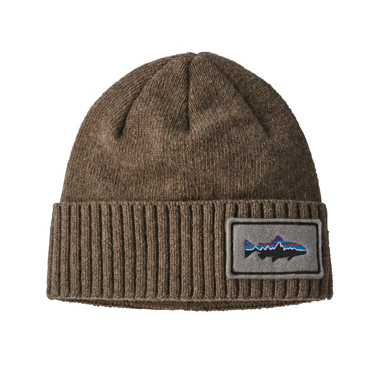 PATAGONIA BRODEO BEANIE - TROUT PATCH TAN