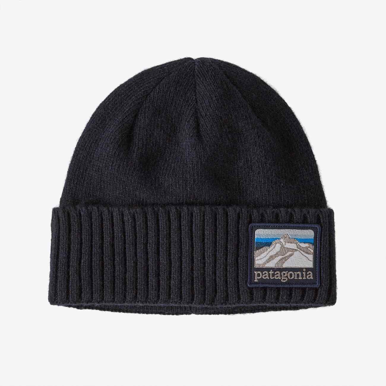 PATAGONIA BRODEO BEANIE - LINE LOGO NAVY