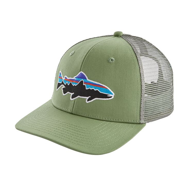 PATAGONIA FITZ ROY TRUCKER TROUT CAP MATCHA GREEN