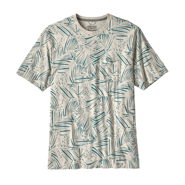 PATAGONIA SQUEAKY CLEAN POCKET T-SKJORTE HERRE - OATMEAL HEATHER