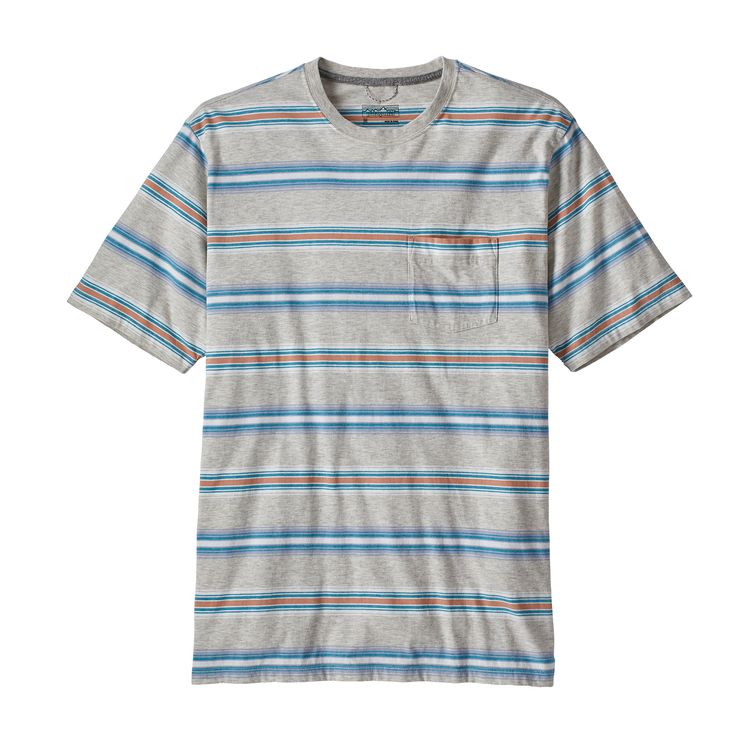 PATAGONIA SQUEAKY CLEAN POCKET T-SKJORTE HERRE - TAILORED GRAY