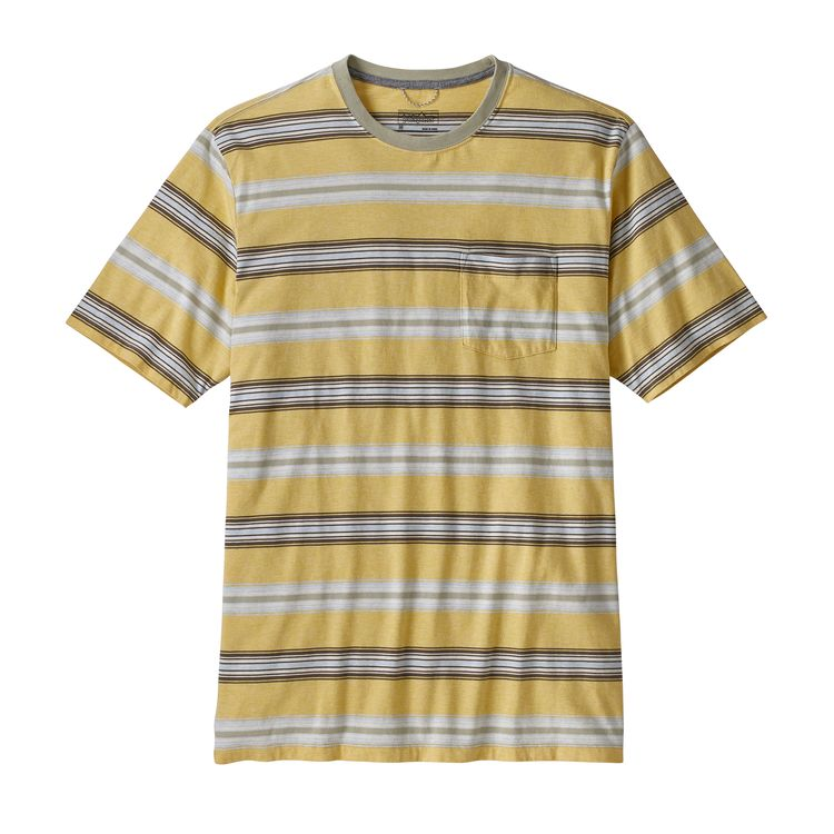 PATAGONIA SQUEAKY CLEAN POCKET T-SKJORTE HERRE - SURFBOARD YELLOW