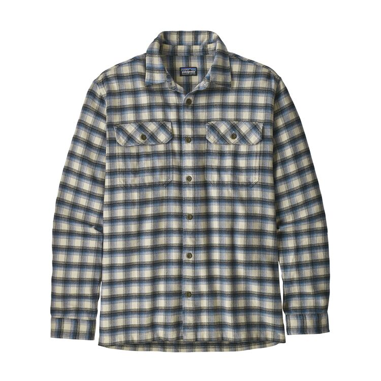 PATAGONIA FJORD FLANNEL SKJORTE HERRE - OYSTER WHITE