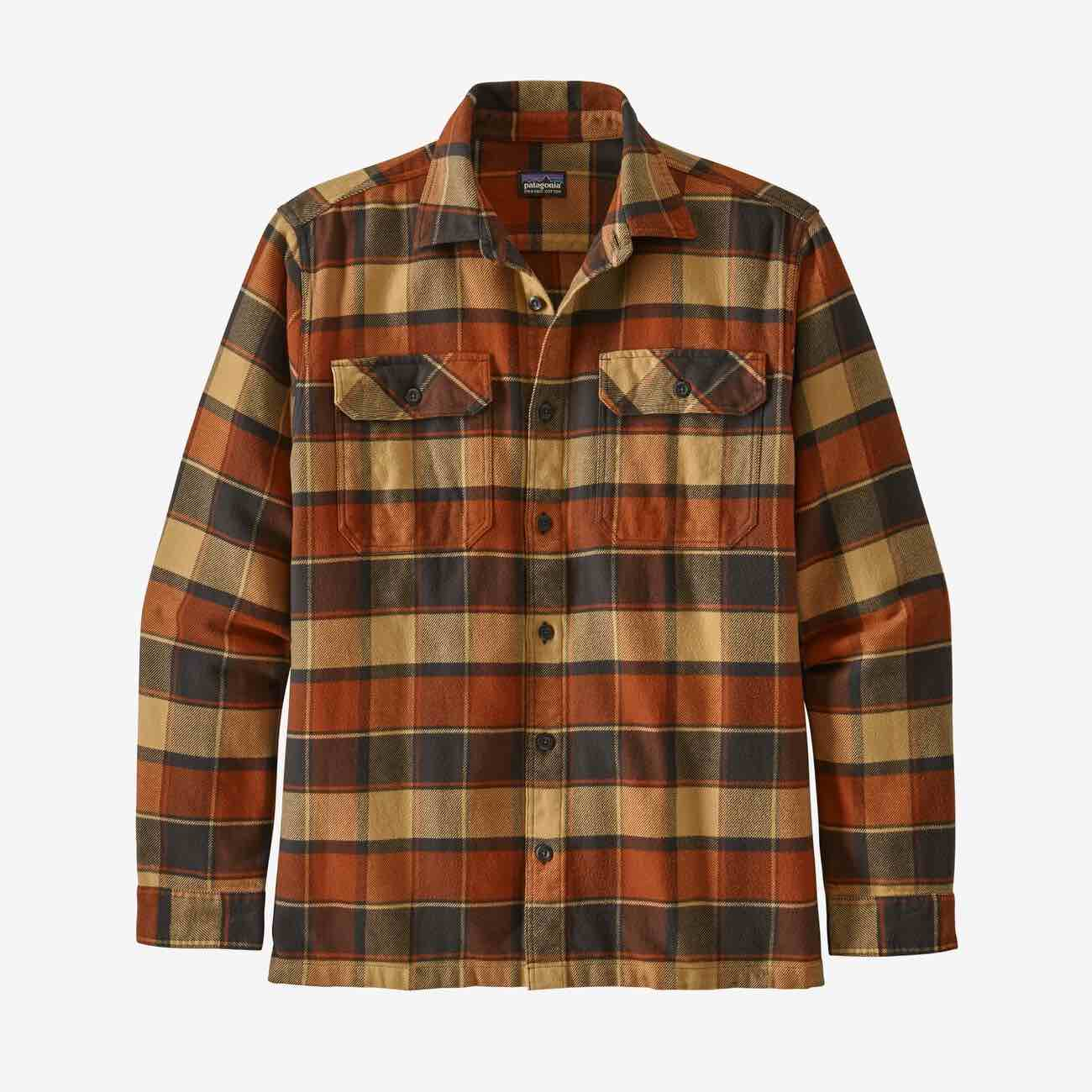 PATAGONIA FJORD FLANNEL SKJORTE - HERRE - BURNISHED RED