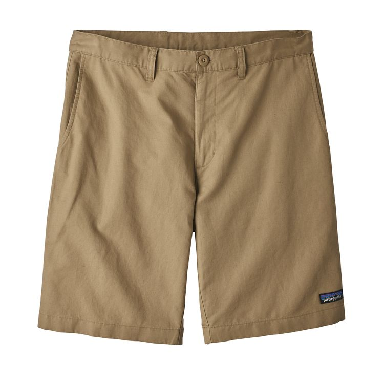 "PATAGONIA LIGHTWEIGHT ALL WEAR HEMP 10"" SHORTS - KHAKI"