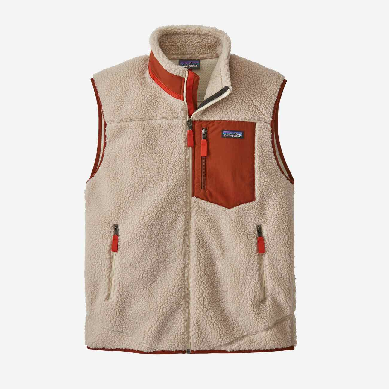 PATAGONIA CLASSIC RETRO-X VEST- FLEECEVEST HERRE - NATURAL RED
